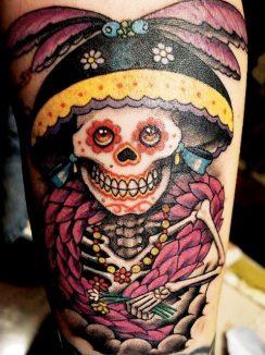 calaveras mexicanas tattoo tatuajes 1 • 2020 » 33 Tatuajes de Calaveras Mexicanas (+Significados) 2
