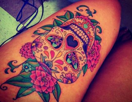 calaveras mexicanas tattoo tatuajes 1 • 2020 » 33 Tatuajes de Calaveras Mexicanas (+Significados) 3