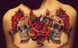calaveras mexicanas tattoo tatuajes 11 • 2020 » 33 Tatuajes de Calaveras Mexicanas (+Significados) 26