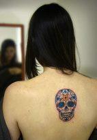 calaveras mexicanas tattoo tatuajes 12 • 2020 » 33 Tatuajes de Calaveras Mexicanas (+Significados) 15