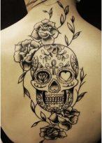calaveras mexicanas tattoo tatuajes 13 • 2020 » 33 Tatuajes de Calaveras Mexicanas (+Significados) 16