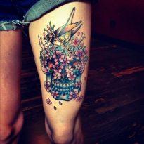 calaveras mexicanas tattoo tatuajes 14 • 2020 » 33 Tatuajes de Calaveras Mexicanas (+Significados) 17