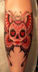 calaveras mexicanas tattoo tatuajes 16 • 2020 » 33 Tatuajes de Calaveras Mexicanas (+Significados) 28