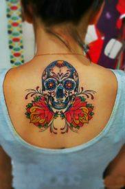 calaveras mexicanas tattoo tatuajes 19 • 2020 » 33 Tatuajes de Calaveras Mexicanas (+Significados) 19