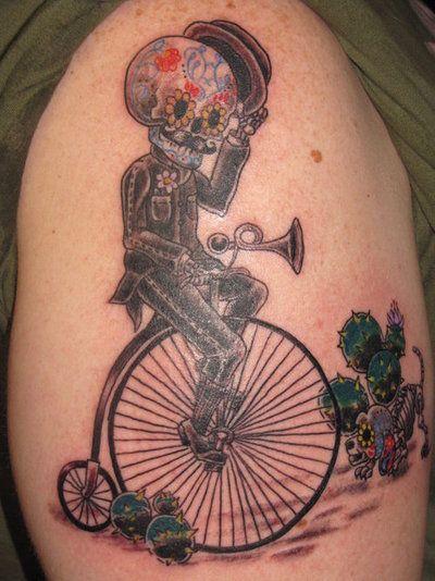 calaveras mexicanas tattoo tatuajes 2 • 2020 » 33 Tatuajes de Calaveras Mexicanas (+Significados) 4