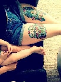 calaveras mexicanas tattoo tatuajes 20 • 2020 » 33 Tatuajes de Calaveras Mexicanas (+Significados) 20