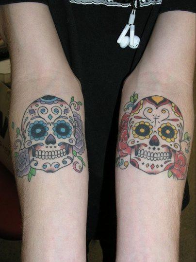 calaveras mexicanas tattoo tatuajes 22 • 2020 » 33 Tatuajes de Calaveras Mexicanas (+Significados) 31