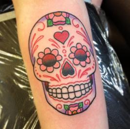 calaveras mexicanas tattoo tatuajes 3 • 2020 » 33 Tatuajes de Calaveras Mexicanas (+Significados) 6