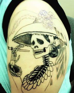 calaveras mexicanas tattoo tatuajes 4 • 2020 » 33 Tatuajes de Calaveras Mexicanas (+Significados) 7
