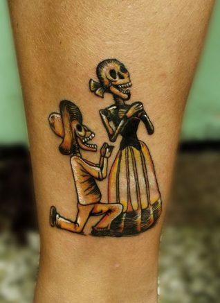 calaveras mexicanas tattoo tatuajes 5 • 2020 » 33 Tatuajes de Calaveras Mexicanas (+Significados) 8