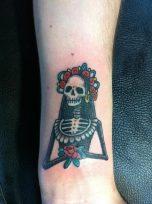 calaveras mexicanas tattoo tatuajes 6 • 2020 » 33 Tatuajes de Calaveras Mexicanas (+Significados) 21