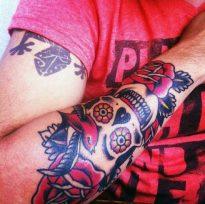 calaveras mexicanas tattoo tatuajes 7 • 2020 » 33 Tatuajes de Calaveras Mexicanas (+Significados) 22