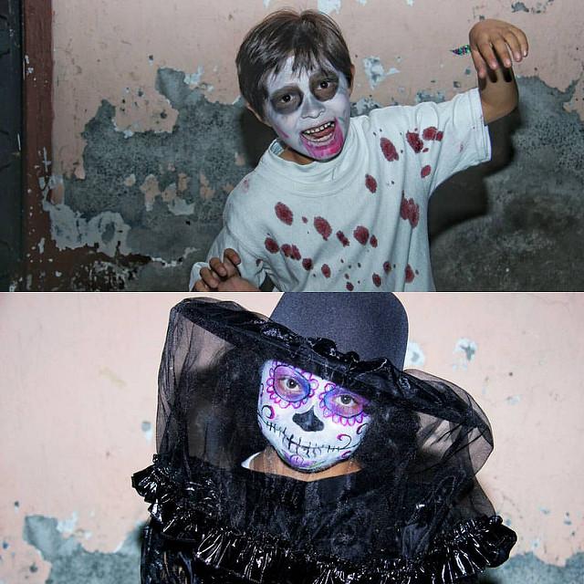 catrin niña catrin niño 3 » 30 Ideas para Maquillaje de Catrinas para niñas 5