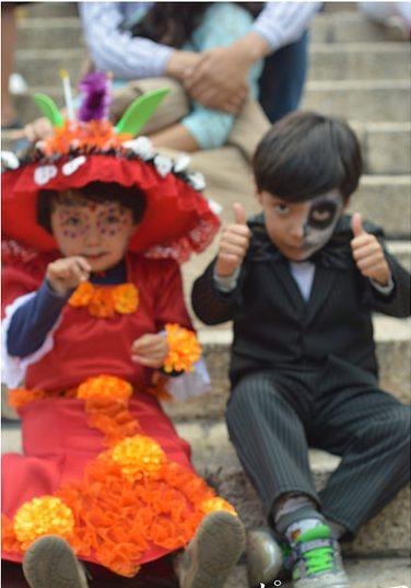 catrin niña catrin niño 6 e1475257765918 » 30 Ideas para Maquillaje de Catrinas para niñas 3