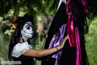 comomaquillarsedecatrina 1 • 2020 » 75 Ideas Geniales de Maquillajes de Catrinas Mexicanas 13