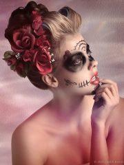 comomaquillarsedecatrina 12 • 2020 » 75 Ideas Geniales de Maquillajes de Catrinas Mexicanas 21