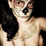comomaquillarsedecatrina 16 » 75 Ideas Geniales de Maquillajes de Catrinas Mexicanas 18