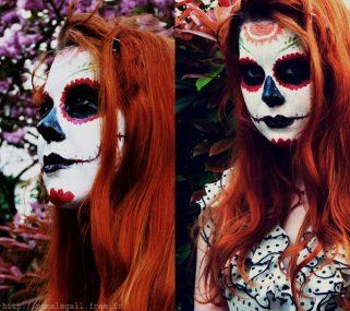 comomaquillarsedecatrina 19 • 2020 » 75 Ideas Geniales de Maquillajes de Catrinas Mexicanas 14