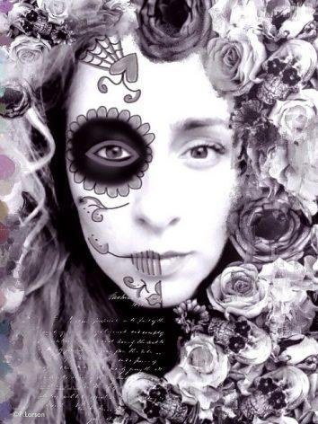 comomaquillarsedecatrina 20 • 2020 » 75 Ideas Geniales de Maquillajes de Catrinas Mexicanas 34
