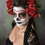 comomaquillarsedecatrina 23 » 75 Ideas Geniales de Maquillajes de Catrinas Mexicanas 10