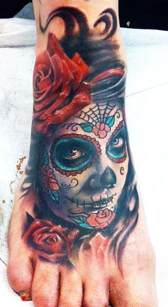 imagenes catrinas tattoo tatuajes 10 » 97 Geniales Tatuajes de Catrinas (+Significados) 45