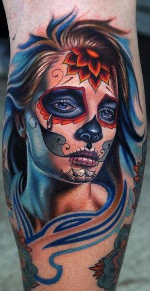imagenes catrinas tattoo tatuajes 11 » 97 Geniales Tatuajes de Catrinas (+Significados) 46