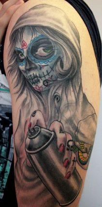 imagenes catrinas tattoo tatuajes 12 • 2020 » 97 Geniales Tatuajes de Catrinas (+Significados) Catrina Tattoo 47