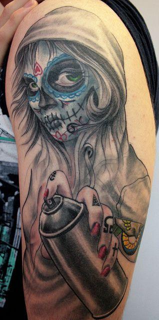imagenes catrinas tattoo tatuajes 12 » 97 Geniales Tatuajes de Catrinas (+Significados) 47