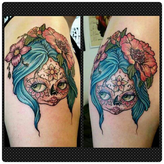 imagenes catrinas tattoo tatuajes 13 » 97 Geniales Tatuajes de Catrinas (+Significados) 48