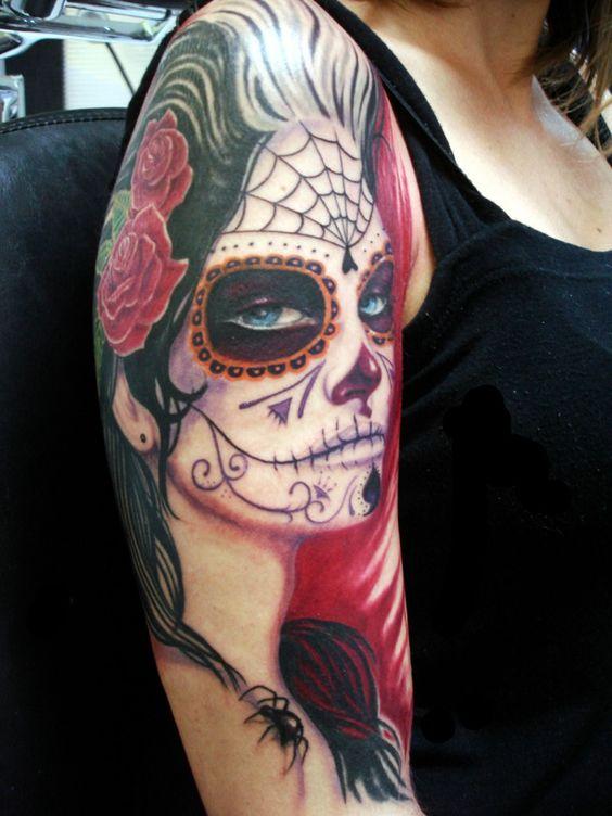imagenes catrinas tattoo tatuajes 15 » 97 Geniales Tatuajes de Catrinas (+Significados) 13