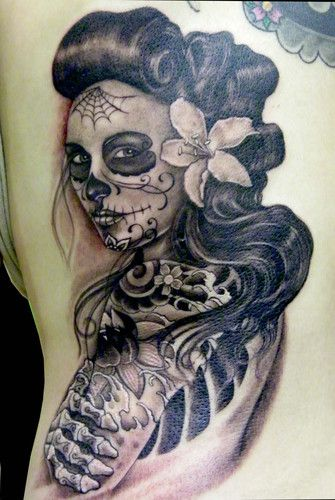 imagenes catrinas tattoo tatuajes 16 » 97 Geniales Tatuajes de Catrinas (+Significados) 51