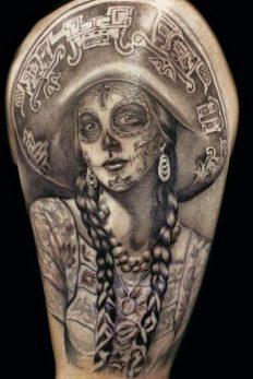 imagenes catrinas tattoo tatuajes 18 • 2020 » 97 Geniales Tatuajes de Catrinas (+Significados) Catrina Tattoo 53