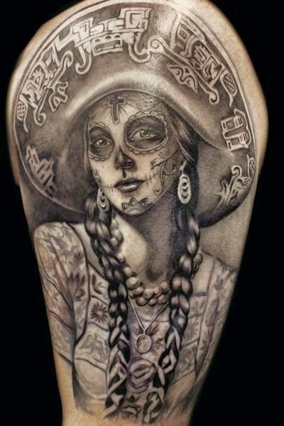 imagenes catrinas tattoo tatuajes 18 » 97 Geniales Tatuajes de Catrinas (+Significados) 53