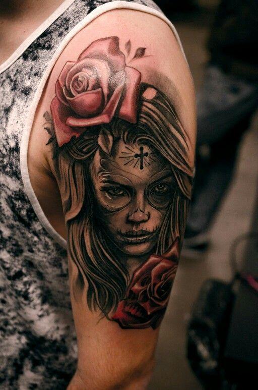 imagenes catrinas tattoo tatuajes 2 » 97 Geniales Tatuajes de Catrinas (+Significados) 37