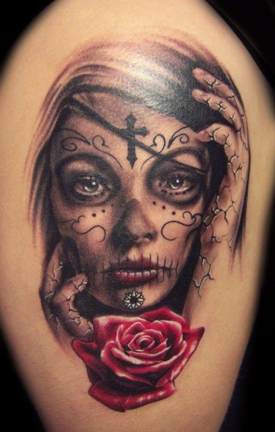 imagenes catrinas tattoo tatuajes 21 » 97 Geniales Tatuajes de Catrinas (+Significados) 56