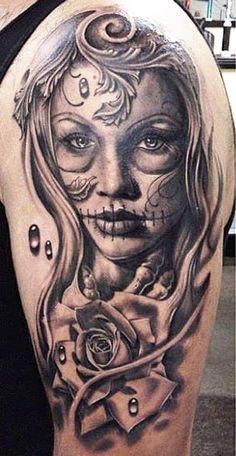 imagenes catrinas tattoo tatuajes 24 » 97 Geniales Tatuajes de Catrinas (+Significados) 59