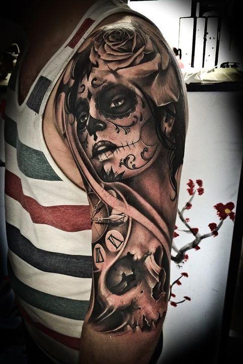 imagenes catrinas tattoo tatuajes 27 » 97 Geniales Tatuajes de Catrinas (+Significados) 62
