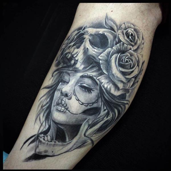 imagenes catrinas tattoo tatuajes 29 » 97 Geniales Tatuajes de Catrinas (+Significados) 64