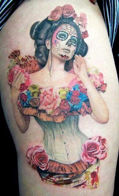 imagenes catrinas tattoo tatuajes 3 » 97 Geniales Tatuajes de Catrinas (+Significados) 38