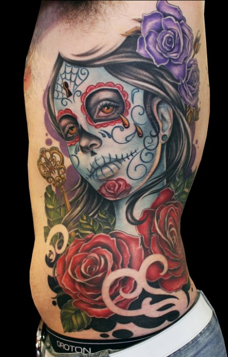 imagenes catrinas tattoo tatuajes 30 » 97 Geniales Tatuajes de Catrinas (+Significados) 65