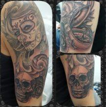 imagenes catrinas tattoo tatuajes 33 • 2020 » 97 Geniales Tatuajes de Catrinas (+Significados) Catrina Tattoo 68