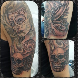 imagenes catrinas tattoo tatuajes 33 » 97 Geniales Tatuajes de Catrinas (+Significados) 68