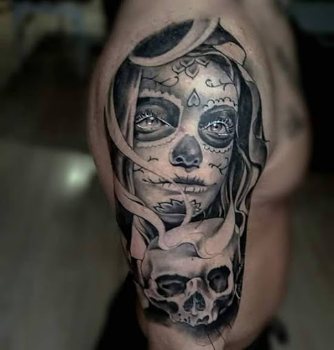 imagenes catrinas tattoo tatuajes 34 » 97 Geniales Tatuajes de Catrinas (+Significados) 69