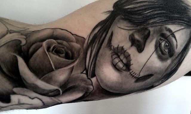 imagenes catrinas tattoo tatuajes 40 » 97 Geniales Tatuajes de Catrinas (+Significados) 75