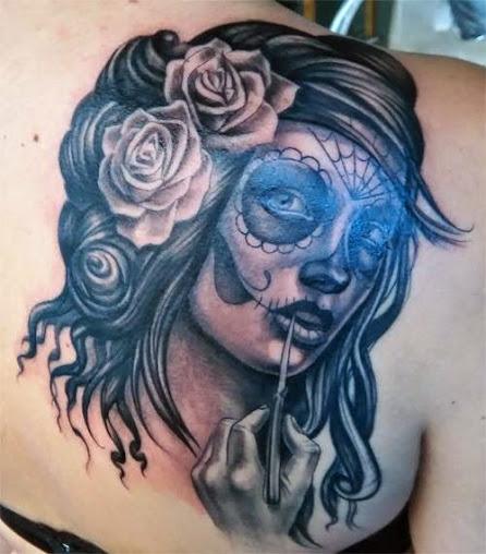 imagenes catrinas tattoo tatuajes 47 » 97 Geniales Tatuajes de Catrinas (+Significados) 82