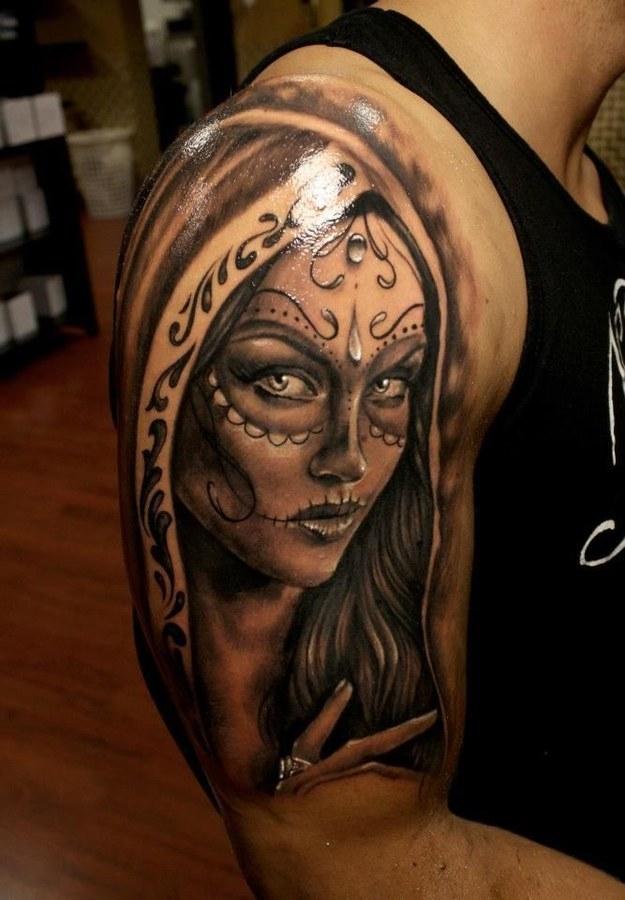 imagenes catrinas tattoo tatuajes 49 » 97 Geniales Tatuajes de Catrinas (+Significados) 84