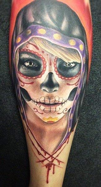 imagenes catrinas tattoo tatuajes 50 » 97 Geniales Tatuajes de Catrinas (+Significados) 85