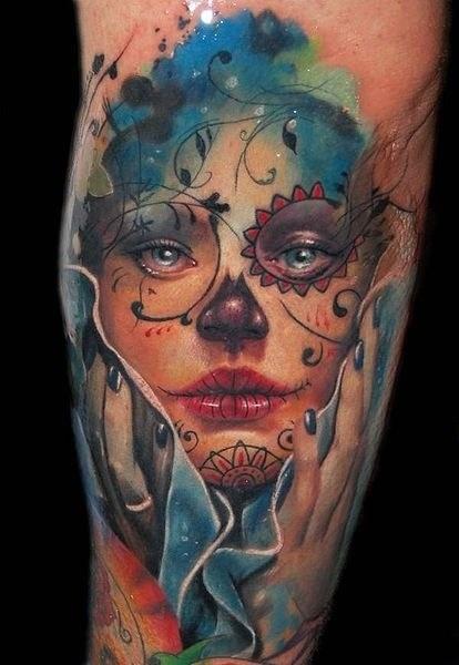imagenes catrinas tattoo tatuajes 51 » 97 Geniales Tatuajes de Catrinas (+Significados) 86