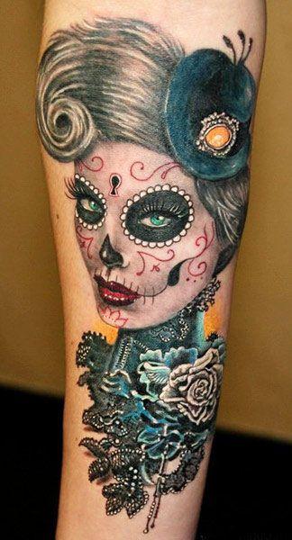 imagenes catrinas tattoo tatuajes 52 » 97 Geniales Tatuajes de Catrinas (+Significados) 87