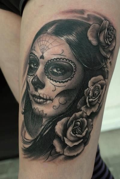 imagenes catrinas tattoo tatuajes 54 » 97 Geniales Tatuajes de Catrinas (+Significados) 89